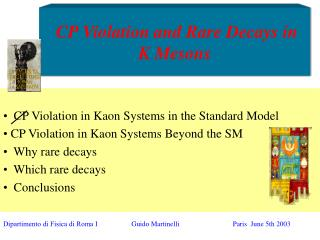 CP Violation and Rare Decays in K Mesons