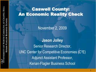 Caswell County:  An Economic Reality Check