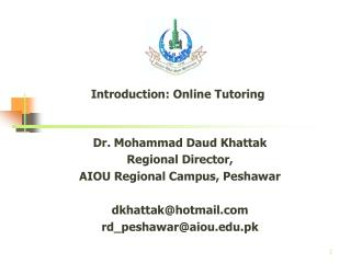 Introduction: Online Tutoring