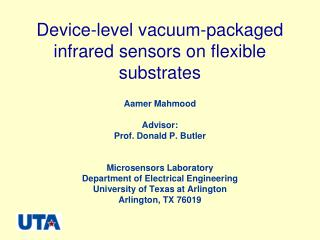 Device-level vacuum-packaged infrared sensors on flexible substrates