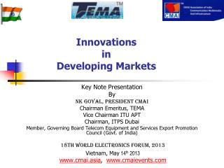 Innovations  in  Developing Markets