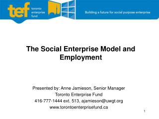 The Social Enterprise  Model and Employment