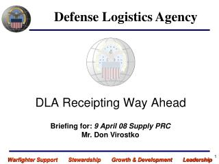 DLA Receipting Way Ahead