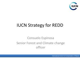 IUCN Strategy for REDD