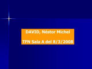 DAVID, Néstor Michel TFN Sala A del 8/3/2008