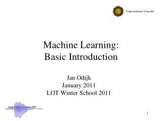 Machine Learning:  Basic Introduction