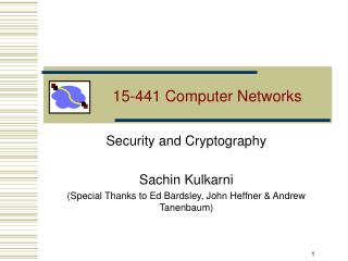 15-441 Computer Networks
