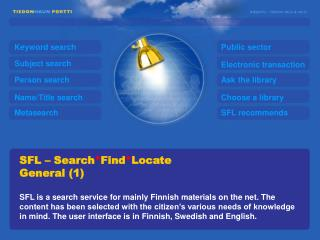 SFL – Search * Find * Locate General (1)