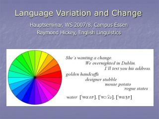 Language Variation and Change