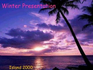 Winter Presentation