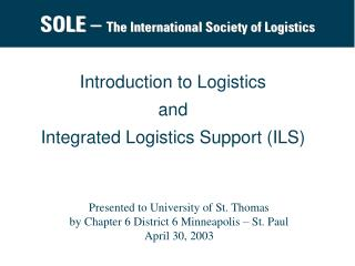SOLE –  The International Society of Logistics