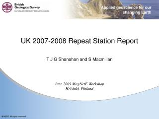 UK 2007-2008 Repeat Station Report