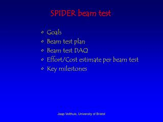SPIDER beam test