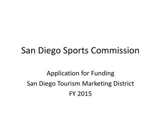 San Diego Sports Commission
