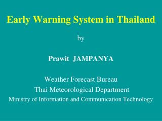 Early Warning System in Thailand