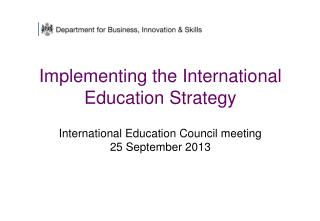International Education – Global Growth and Prosperity