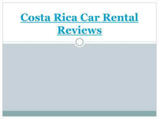 Welcome to Car Rental Costa Rica