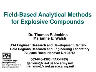 Field-Based Analytical Methods for Explosive Compounds