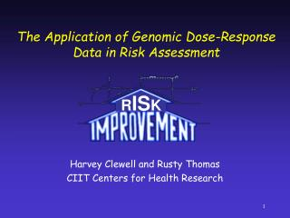The Application of Genomic Dose-Response Data in Risk Assessment