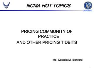 PRICING COMMUNITY OF PRACTICE AND OTHER PRICING TIDBITS