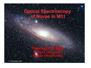 Optical Spectroscopy  of Novae in M31