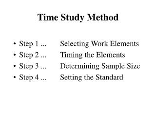 Time Study Method