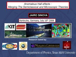 Anomalous Hall effects :   Merging The Semiclassical and Microscopic Theories