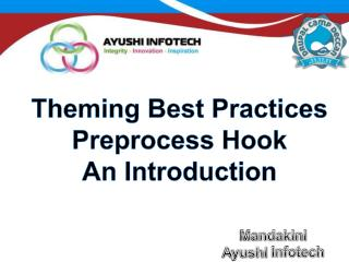 Theming  Best Practices Preprocess Hook An Introduction