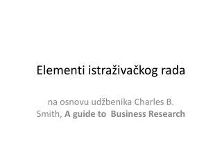 Elementi istraživačkog rada