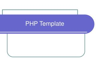 PHP Template