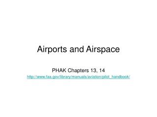 Airports and Airspace