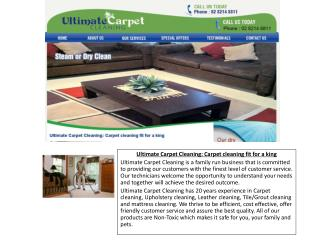 Ultimate Carpet Cleaning | Steam, Dry, Rug, Mattress, Leath