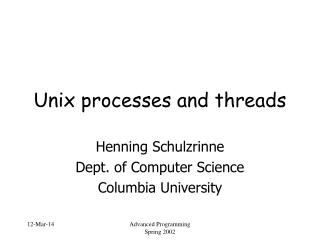 Unix processes and threads