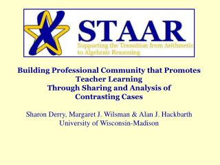 Building Professional Community that Promotes Teacher Learning  Through Sharing and Analysis of