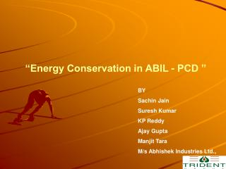 """Energy Conservation in ABIL - PCD """