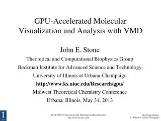 GPU-Accelerated Molecular Visualization and Analysis with VMD