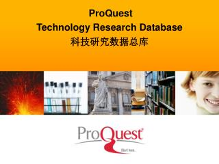ProQuest Technology Research Database 科技研究数据总库
