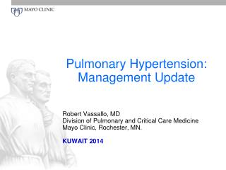 Pulmonary Hypertension: Management Update