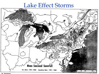 Lake Effect Storms