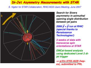 Di-Jet Asymmetry Measurements with STAR
