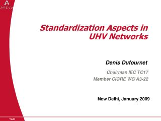 Standardization Aspects in UHV Networks