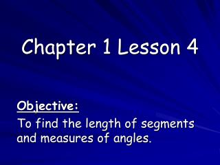 Chapter 1 Lesson 4