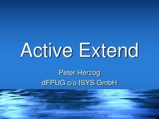 Active Extend