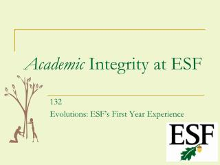Academic  Integrity at ESF