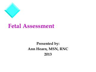 Fetal Assessment