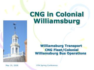 CNG in Colonial Williamsburg