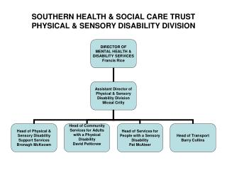SOUTHERN HEALTH & SOCIAL CARE TRUST PHYSICAL & SENSORY DISABILITY DIVISION