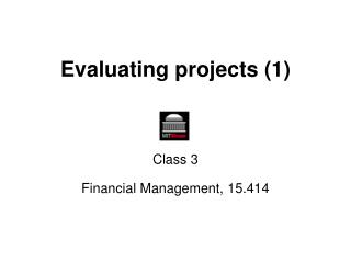Evaluating projects (1)
