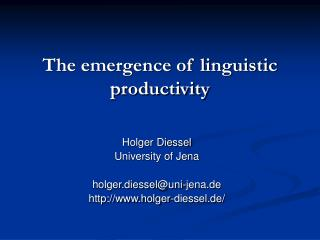 The emergence of linguistic productivity