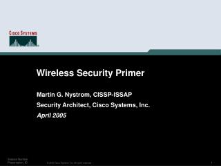 Wireless Security Primer